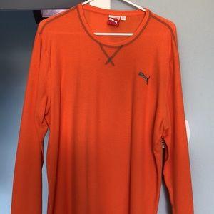 Puma Orange Thermal Shirt
